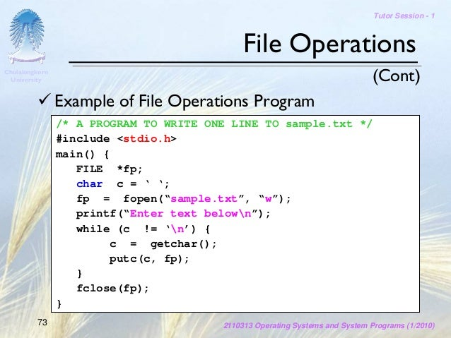 SysProg-Tutor 01 Introduction to C Programming Language