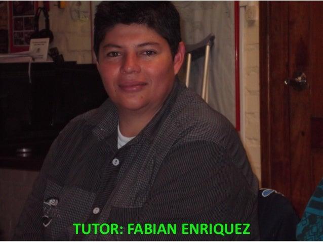 TUTOR: FABIAN ENRIQUEZ