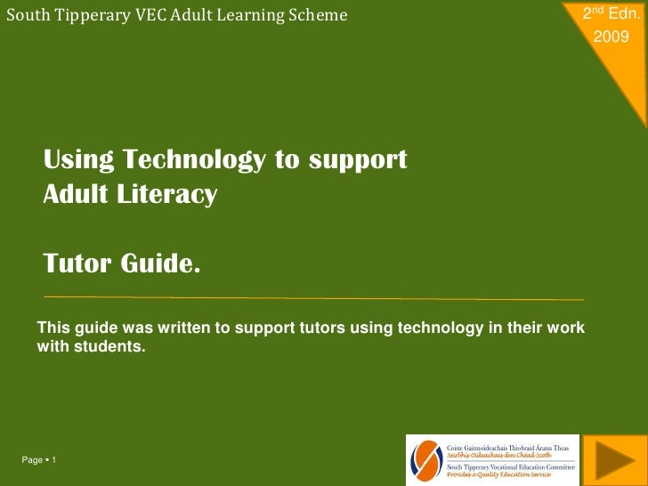 South Tipperary VEC Adult Learning Scheme                                 2nd Edn.                                        ...