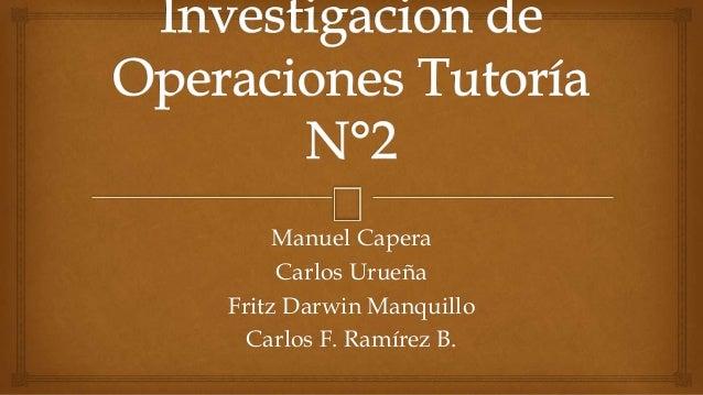 Manuel Capera  Carlos Urueña  Fritz Darwin Manquillo  Carlos F. Ramírez B.