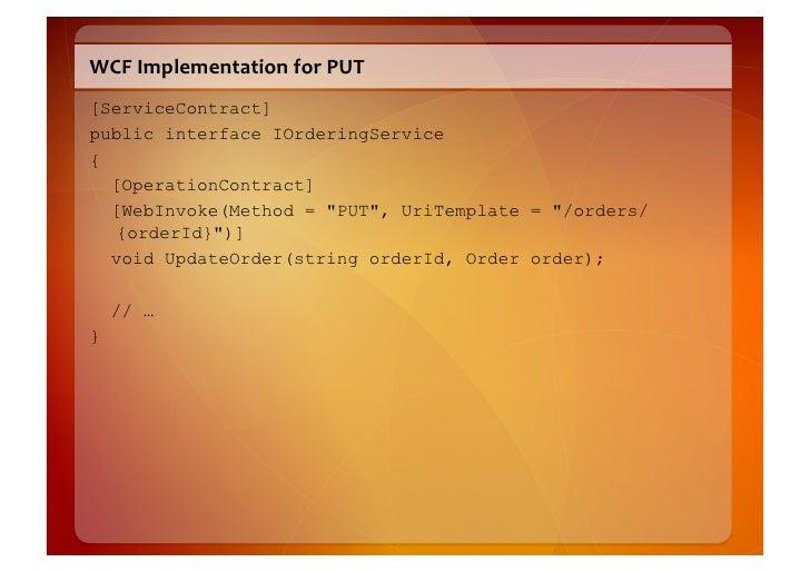 "WCF  Serializable  Types   [DataContract(Namespace = ""http://schemas.restbucks.com/order"", Name = ""order"")] public c..."