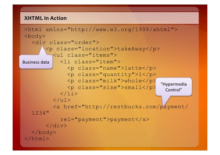 application/xhtml+xml  • Can  ask  which  verb  the  resource  at  the  end  of  the  link      s...