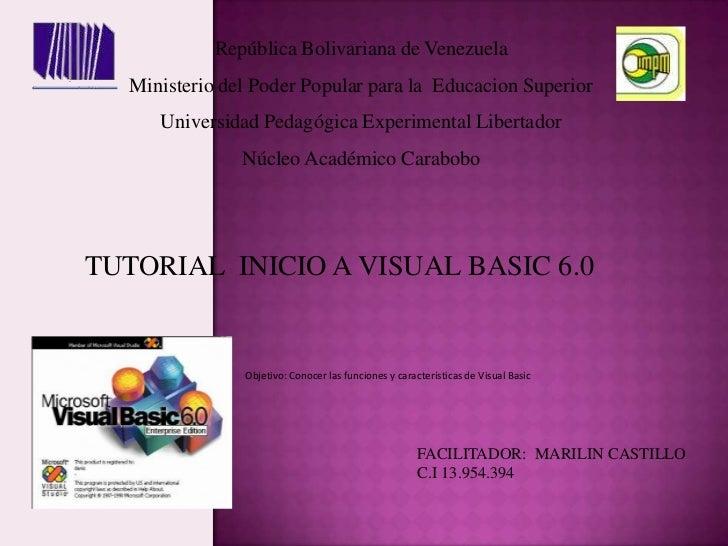 República Bolivariana de Venezuela<br />Ministerio del Poder Popular para la  Educacion Superior <br />Universidad Pedagóg...