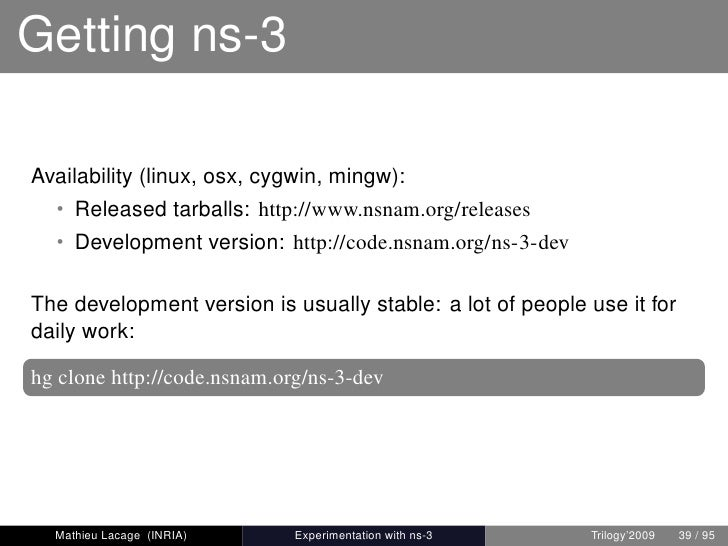 ns-3 Tutorial