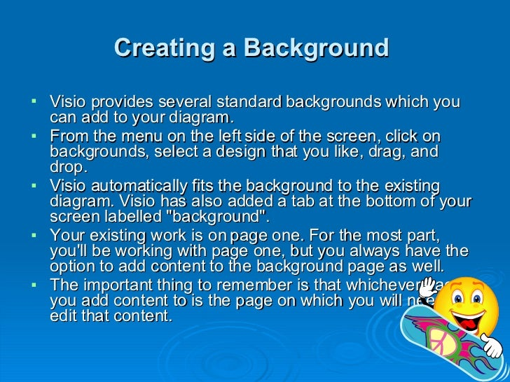 Visio Background Pages