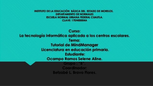INSTITUTO DE LA EDUCACIÓN BÁSICA DEL ESTADO DE MORELOS. DEPARTAMENTO DE NORMALES ESCUELA NORMAL URBANA FEDERAL CUAUTLA. CL...