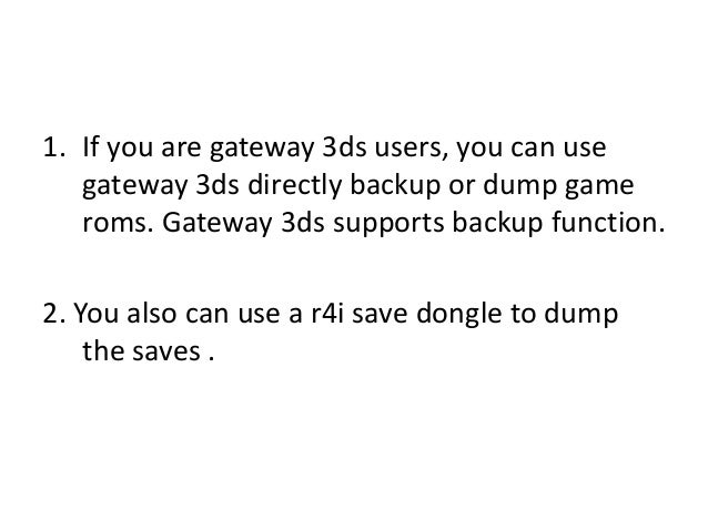 how to create backup on 3ds