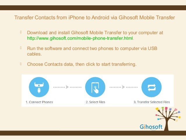sync contacts from android to iphone how to transfer contacts from iphone to android 19465