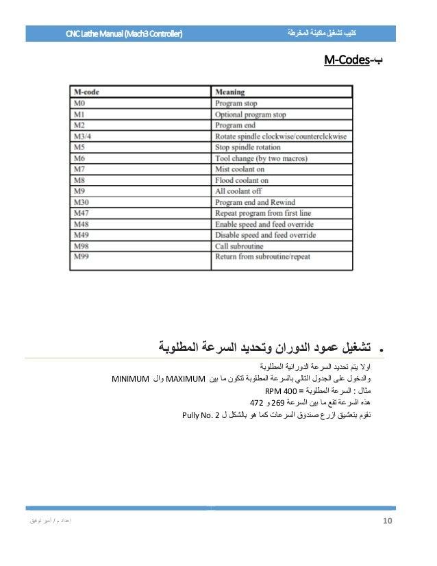 CNC Lathe Manual (Mach3 Controller)