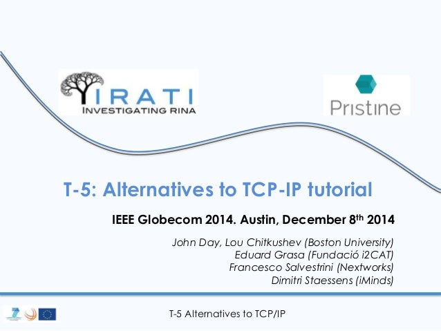 T-5: Alternatives to TCP-IP tutorial  IEEE Globecom 2014. Austin, December 8th 2014  John Day, Lou Chitkushev (Boston Univ...
