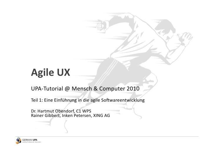 Tutorial Agile UX