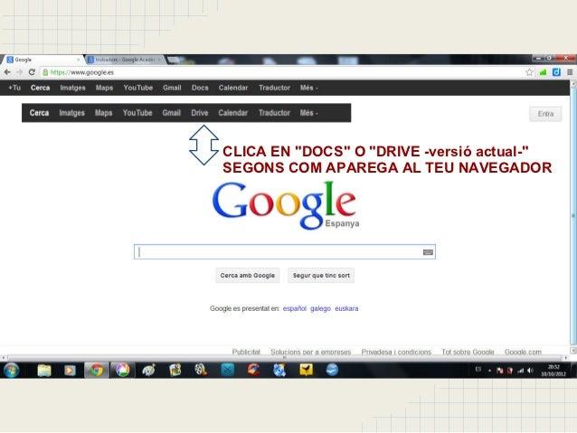 Tutorial: Editar i compartir treballs amb Google Drive Slide 3