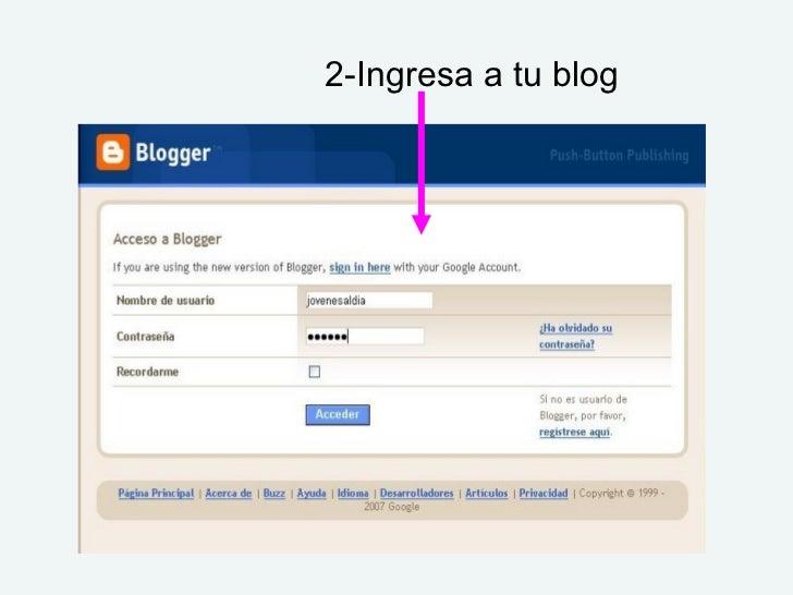 2-Ingresa a tu blog