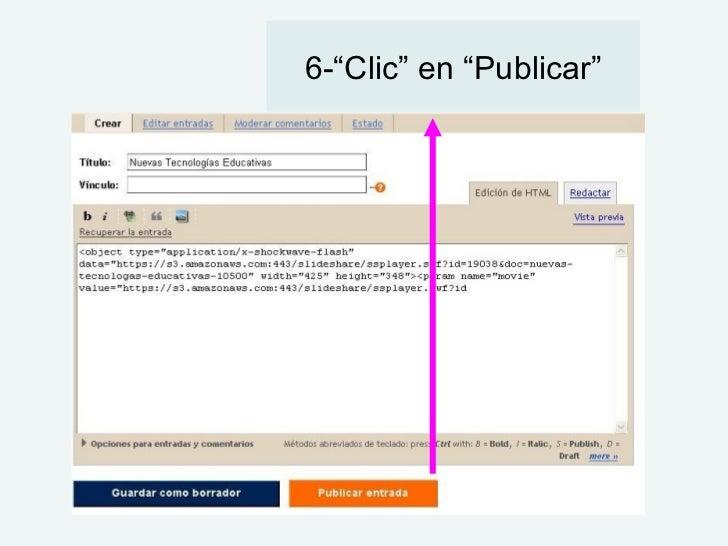 "6-""Clic"" en ""Publicar"""