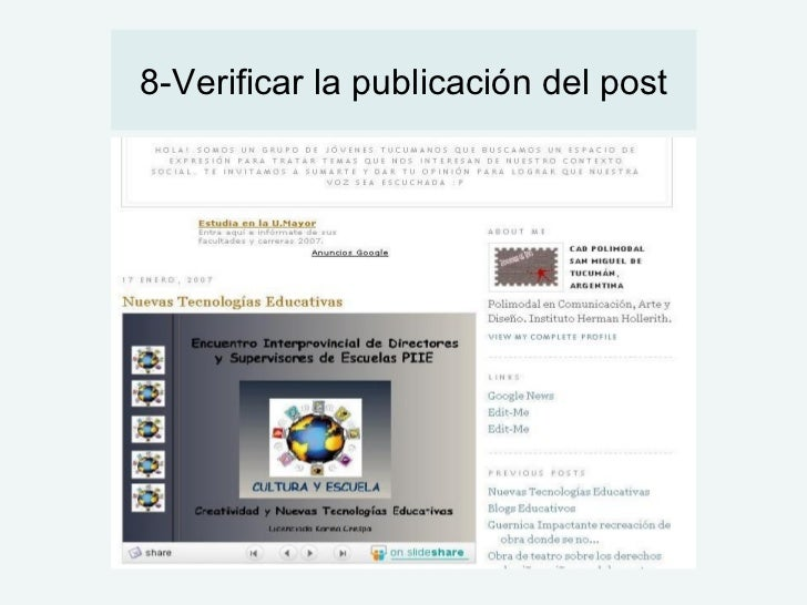 8-Verificar la publicación del post