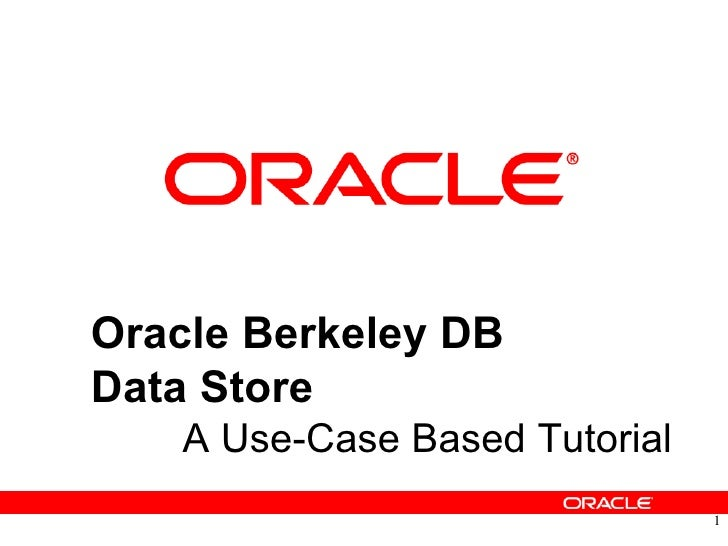 A Use-Case Based Tutorial Oracle Berkeley DB Data Store