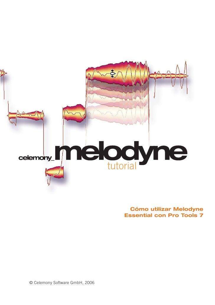 tutorial                                           Cómo utilizar Melodyne                                      Essential c...