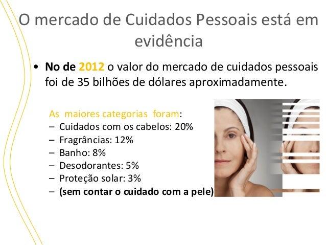 O mercado de Cuidados Pessoais está em evidência • No de 2012 o valor do mercado de cuidados pessoais foi de 35 bilhões de...