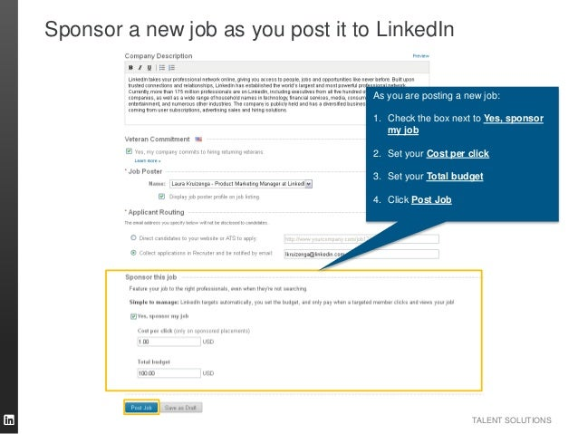How to Successfully Sponsor Jobs on LinkedIn [Tutorial]