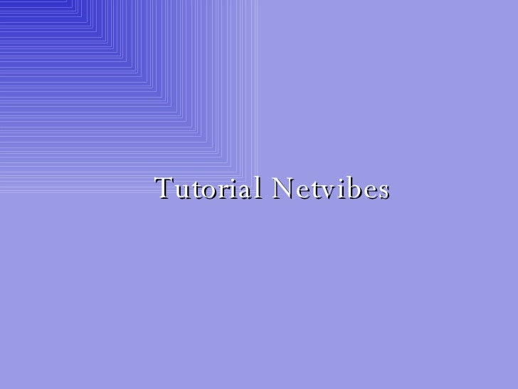 Tutorial Netvibes