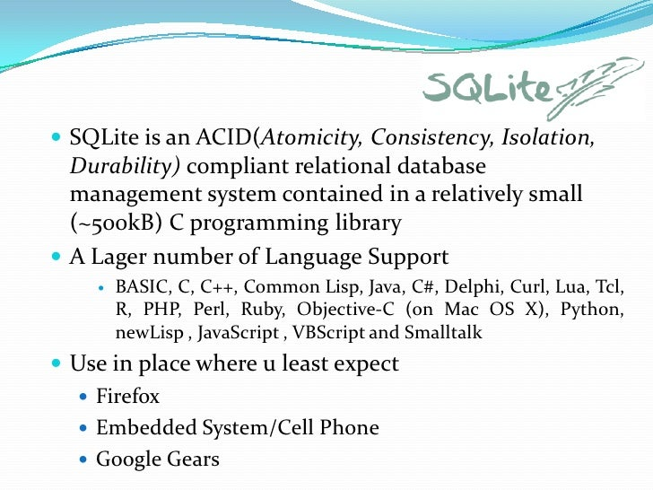 Tutorial On Database Management System