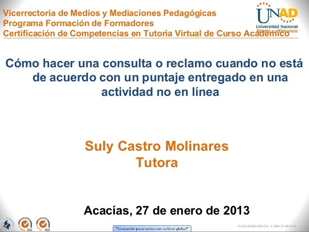 Vicerrectoría de Medios y Mediaciones PedagógicasPrograma Formación de FormadoresCertificación de Competencias en Tutoría ...
