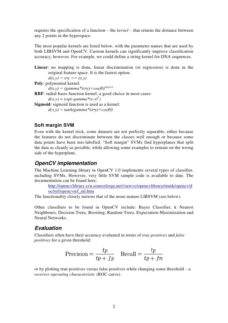 Tutorial - Support vector machines