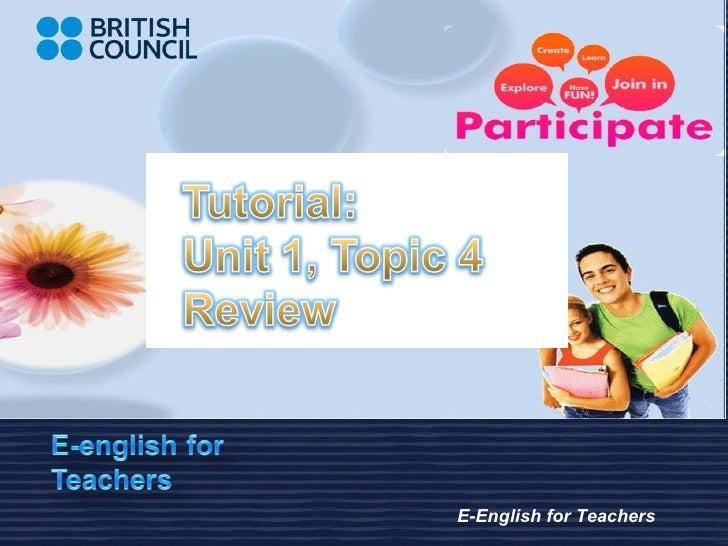 E-English for Teachers
