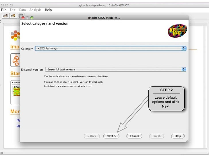STEP 2                         Select Modules From BioMart you can    and click OK download Tables or Modules.