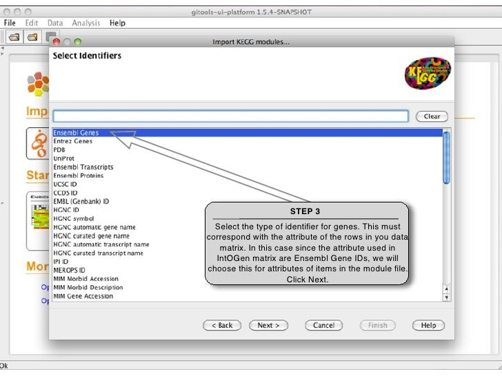 STEP 4                             Select the Biomart                        database from which you                      ...