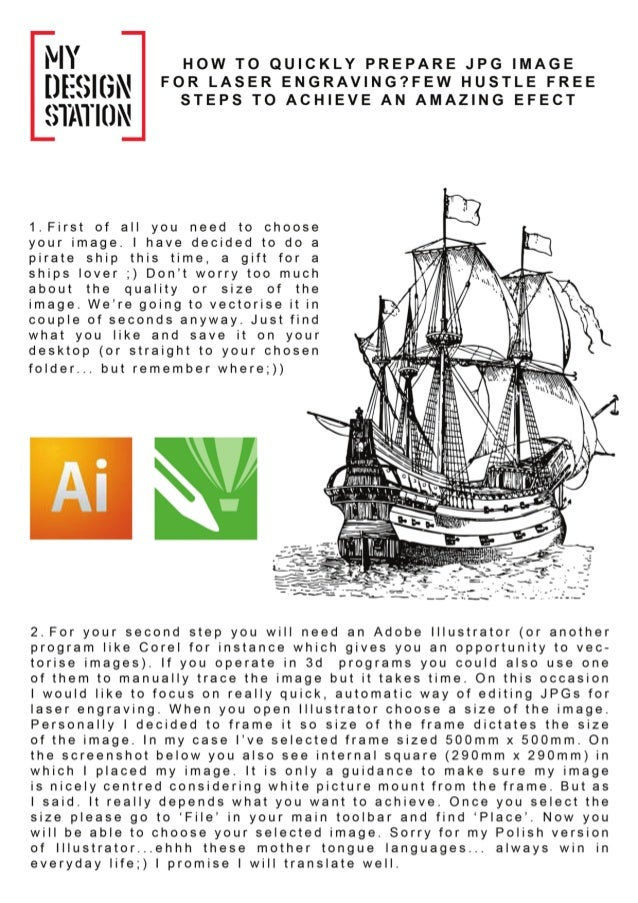 Tutorial 1   how to edit jpg image for laser engraving