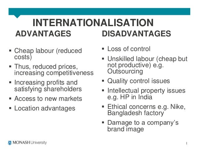 advantages disadvantages and issues related to transnational it operations Individual transnational it operations paper write a 4 6 page about various aspects advantages disadvantages and issues related to address the following transfer.