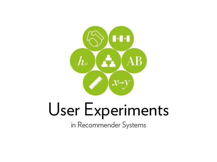 User Experiments   in Recommender Systems