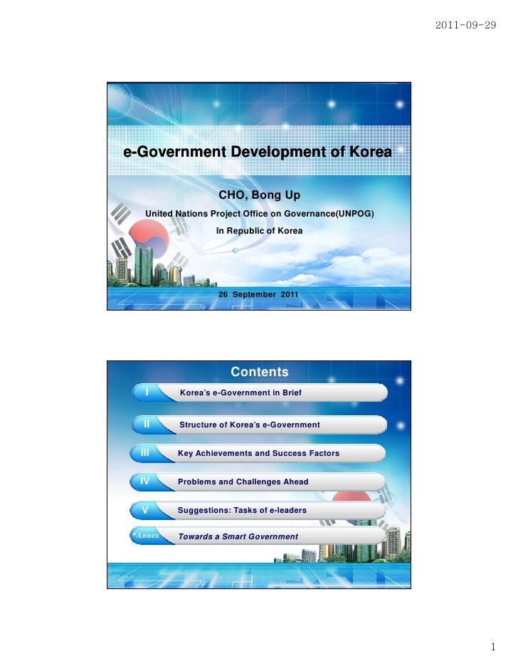 2011-09-29e-Government Development of Korea                   CHO, Bong Up   United Nations Project Office on Governance(U...