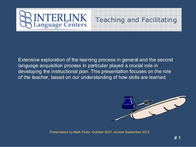 Teaching and Facilitating Presentation by Mark Feder, October 2007; revised September 2013 # 1 Extensive exploration of th...