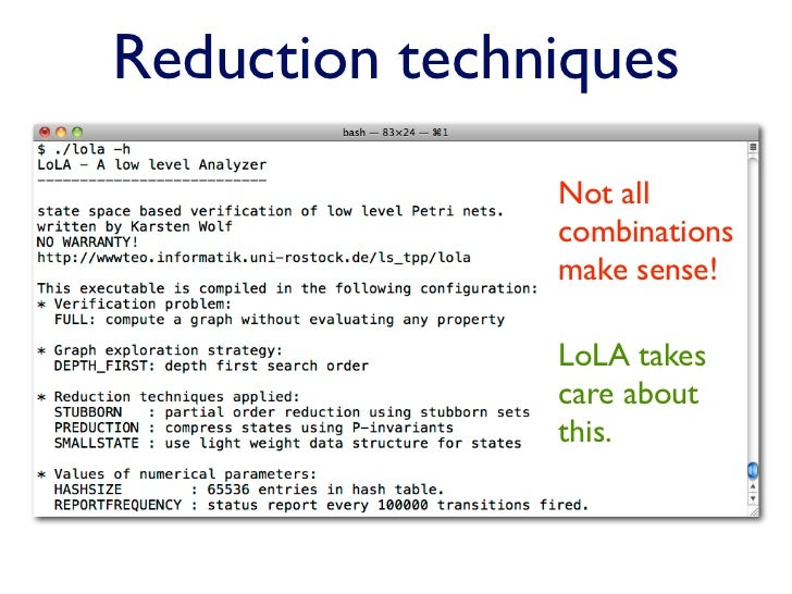 Verification with LoLA 4 Using LoLA – Nj Child Support Guidelines Worksheet