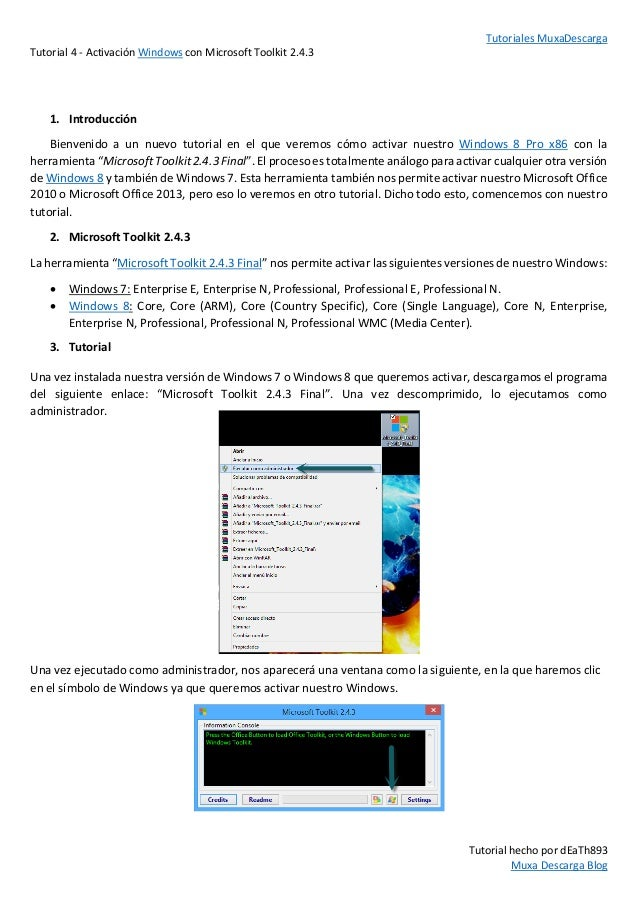 como activar windows 8.1 pro con toolkit