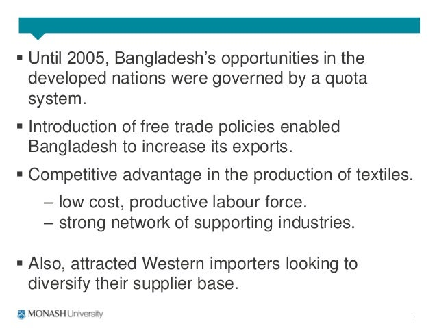 rise of bangladesh's textile trade 07062017 wesley person jun 7, 2017 he the rise of bangladesh's textile trade the rise of bangladesh's textile trade 1 why was the shift to a free trade regime.