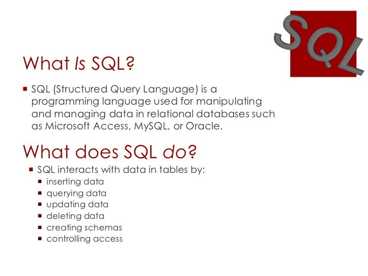 Computer Programming: How long does it take to learn SQL ...
