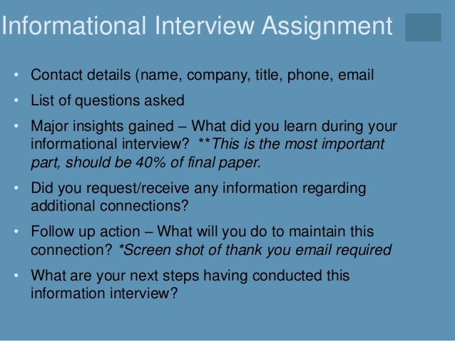 informational interview paper center for career and experiential learning university of rhode island informational interview