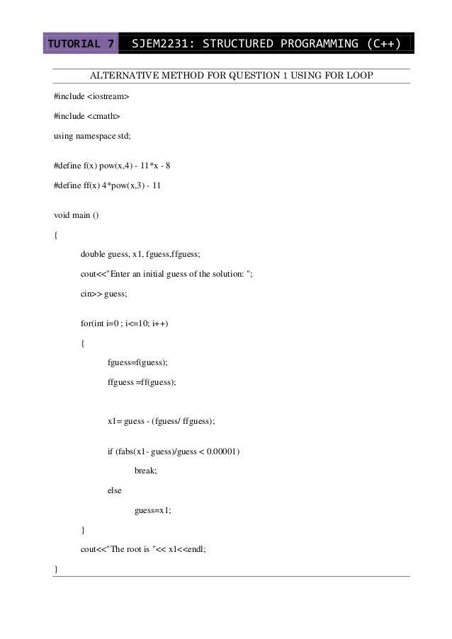 c   tutorial 7