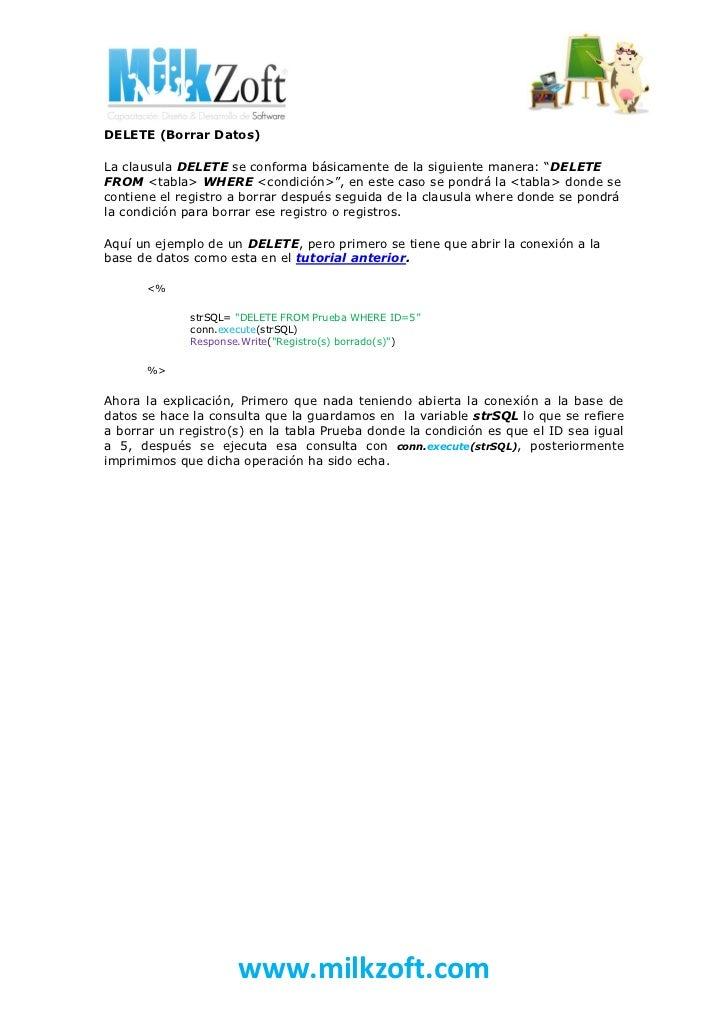 Tutorial 9 consultar modificar insertar y borrar con asp for Consul tutorial
