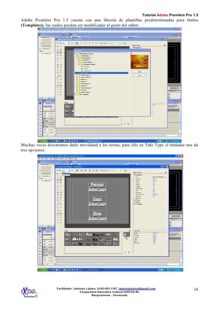 adobe premiere pro slideshow templates - tutorial adobe premiere pro 1 5 por jackson lazaro