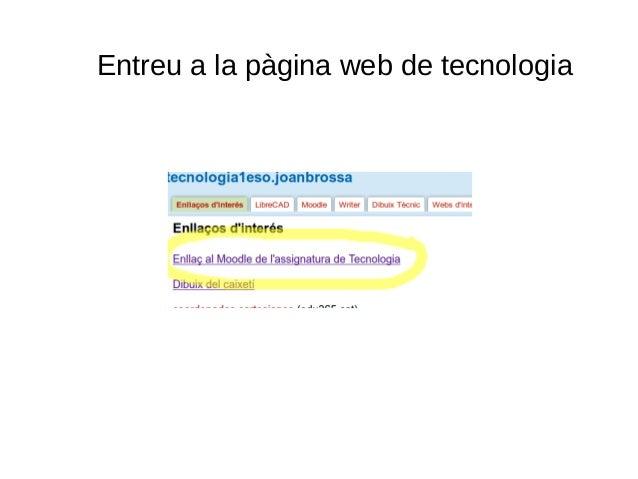 Entreu a la pàgina web de tecnologia