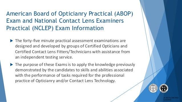 ABO & NCLE Practical Exam Slideshow Tutorial Slide 3