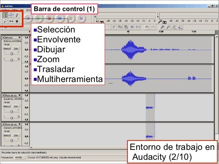 <ul><li>Selección </li></ul><ul><li>Envolvente </li></ul><ul><li>Dibujar </li></ul><ul><li>Zoom </li></ul><ul><li>Traslada...