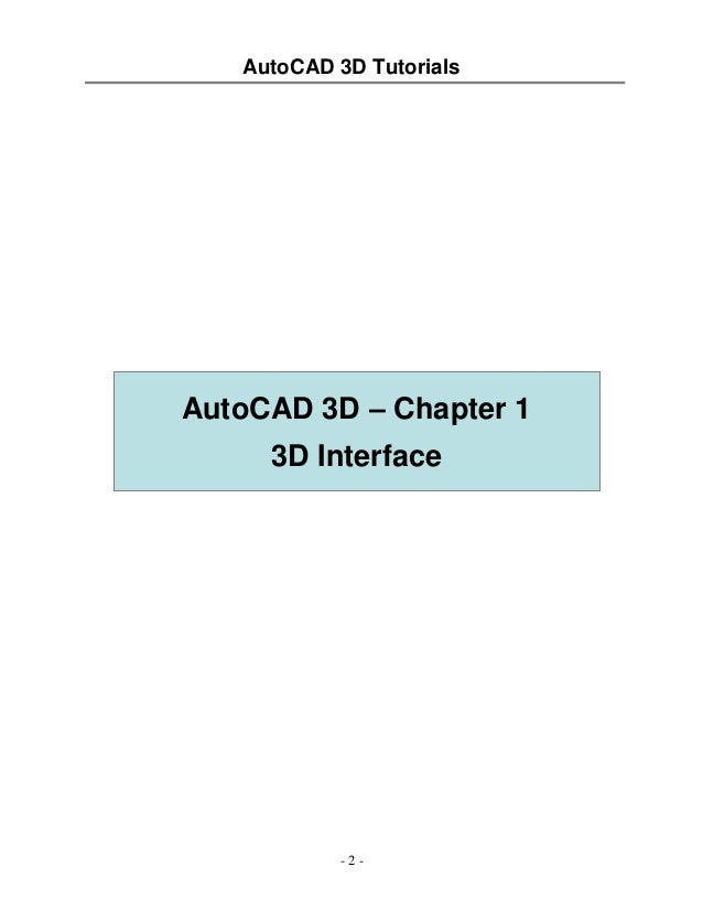 tutorial auto cad 3d rh slideshare net 2014 AutoCAD Instruction Manual AutoCAD 2016 Logo