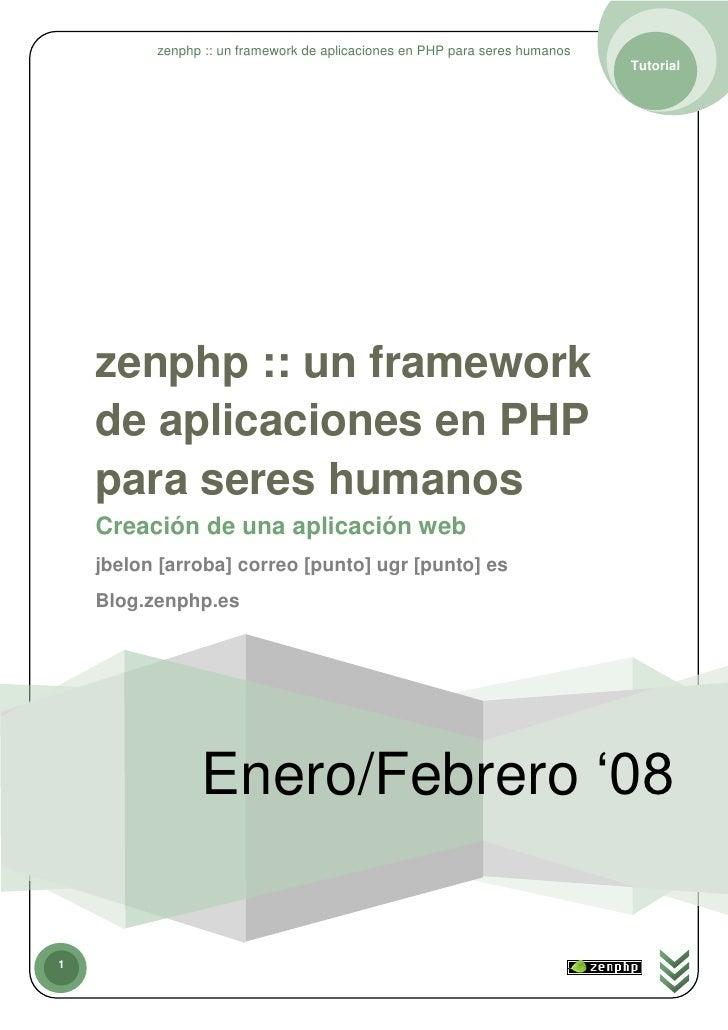zenphp :: un framework de aplicaciones en PHP para seres humanos                                                          ...