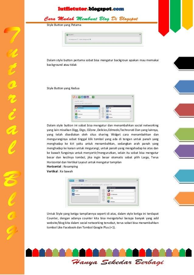 lutfietutor.blogspot.com Style Button yang Petama  Dalam style button pertama sobat bisa mengatur backgroun apakan mau mem...