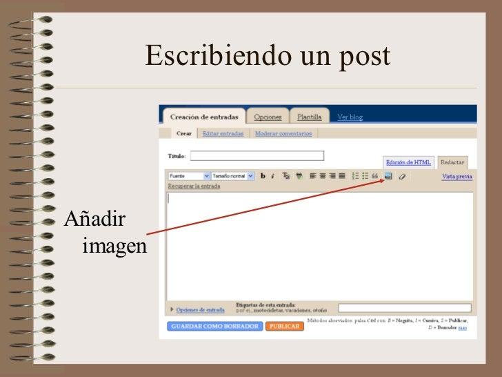 Escribiendo un postAñadir imagen